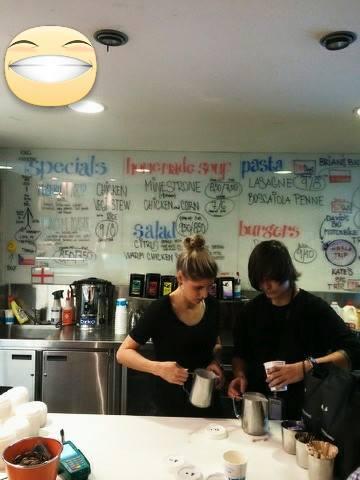 práce v kavárně v Austrálii