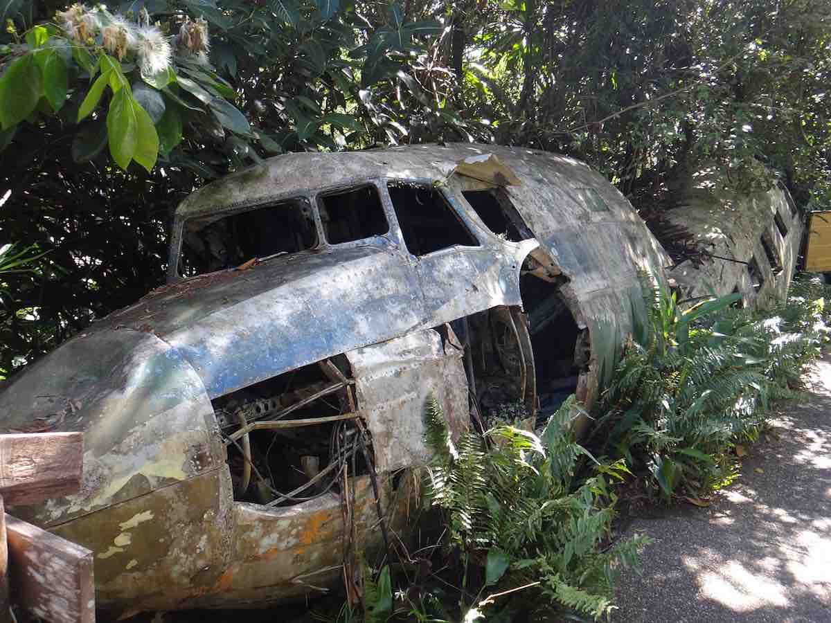 cairns ztroskotané letadlo