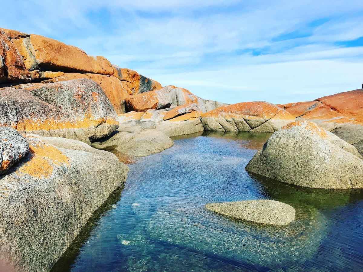 nejlepší australské pláže-Bay of Fires